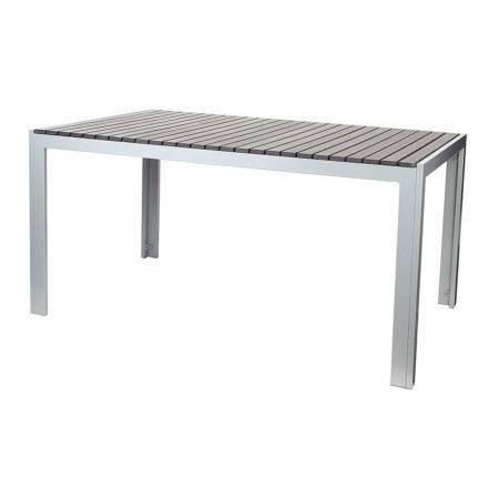 Aluminium Tisch 150 X 90 X 73 Cm Mit Non Wood Platte, Anthrazit, Wetterfest