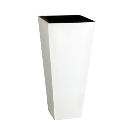 Pflanzkübel Fiberglas Sandstrahloptik mit Kunststoffeinsatz, 28 x 60 ...