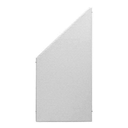 pfosten f r polyrattan zaun element aluminium 190 cm hoch aluminiumfarben gartenfreude. Black Bedroom Furniture Sets. Home Design Ideas