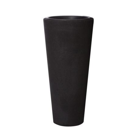 Pflanzkübel Fiberglas 28 x 60 cm Sandstrahloptik, für Innen und ...