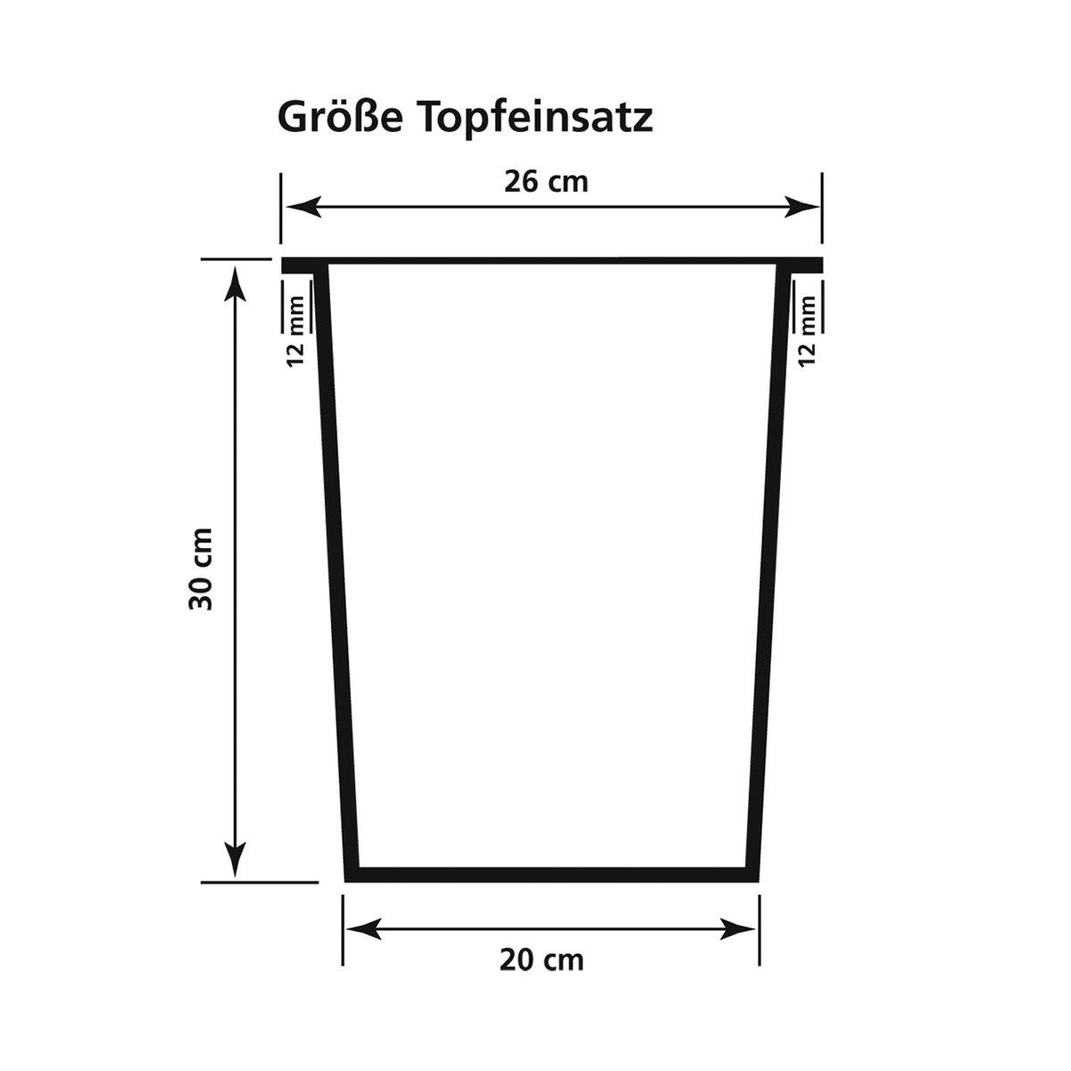 Pflanzkübel Fiberglas 28 x 28 x 60 cm, für Innen und Außen ...