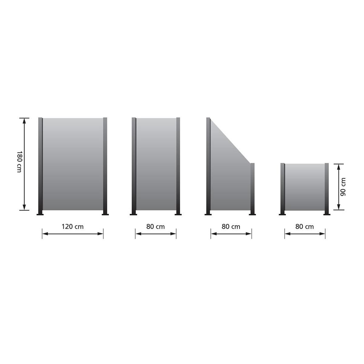Polyrattan Zaun Element 80 X 180 90 Cm Gartenfreude