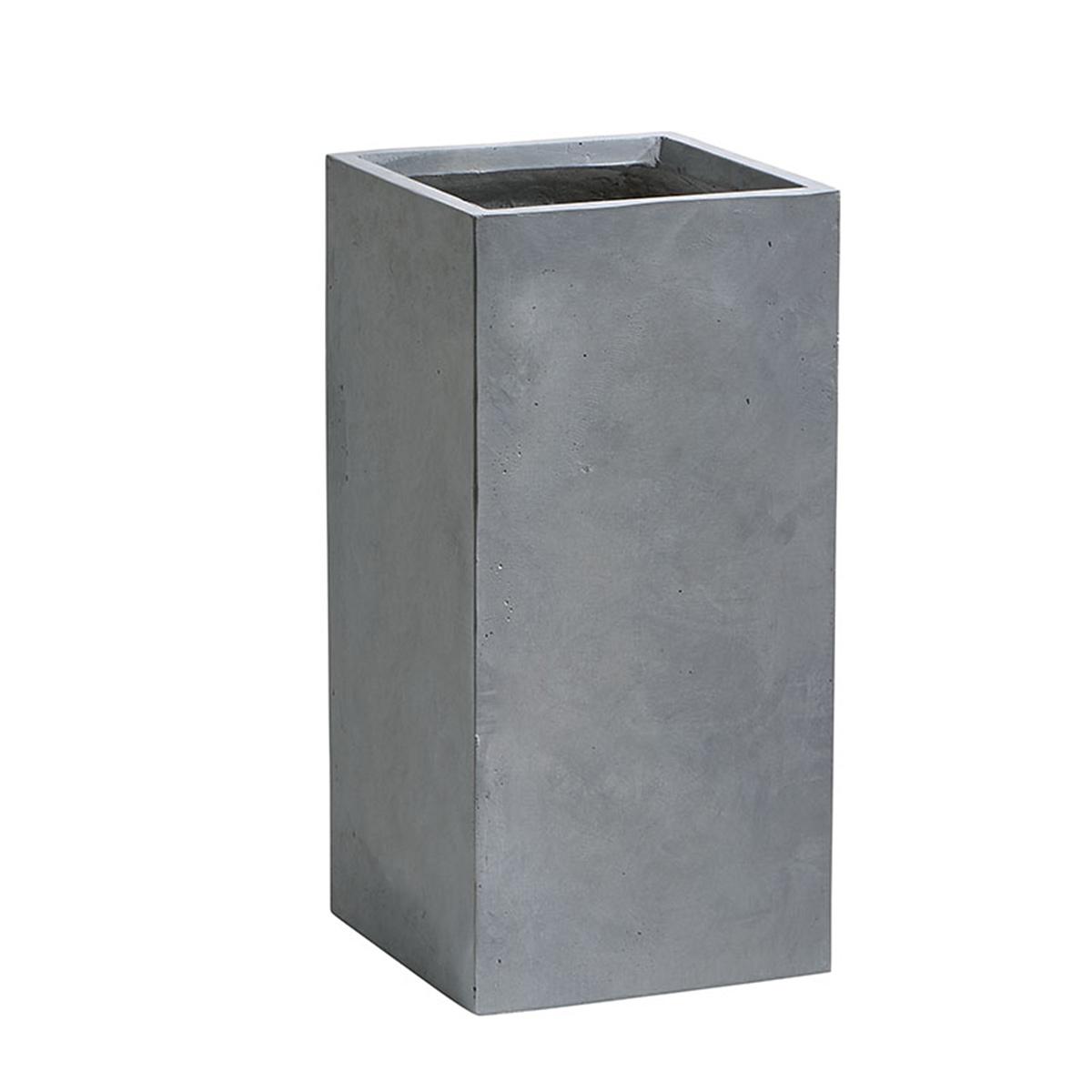 pflanzkübel fiberglas 34 x 34 x 70 (l x b x h), grau - gartenfreude