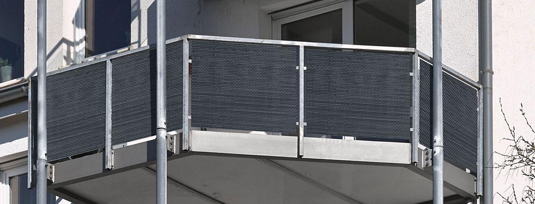 Polyrattan Sichtschutz für Balkon / Zaun 5 x 0,9 m