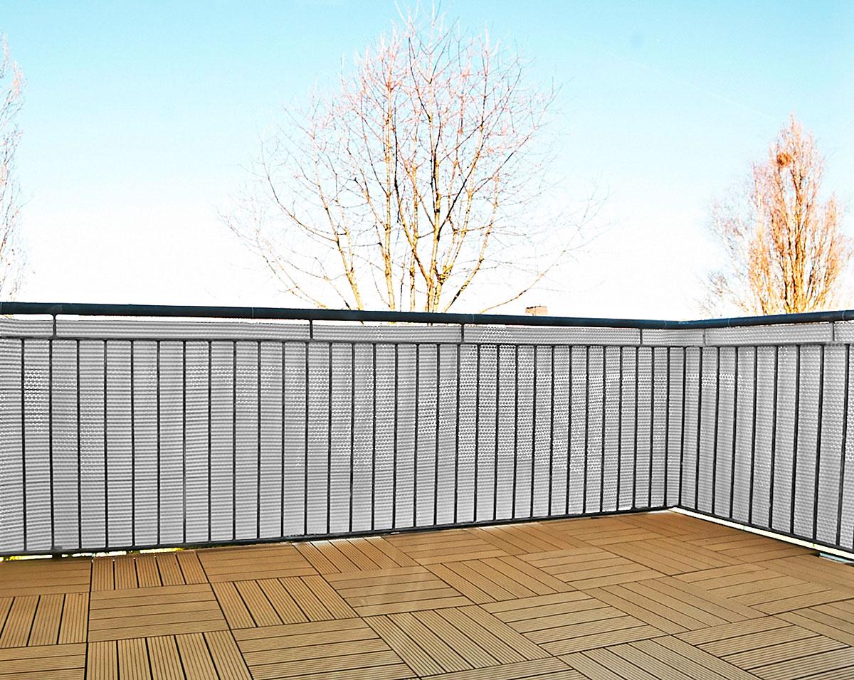 Polyrattan Sichtschutz Fur Balkon Zaun 5 X 0 75 M Gartenfreude